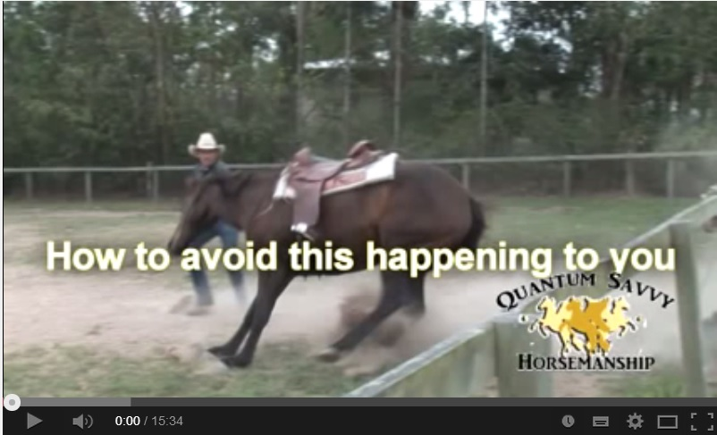 How to stop a horse from bucking ?