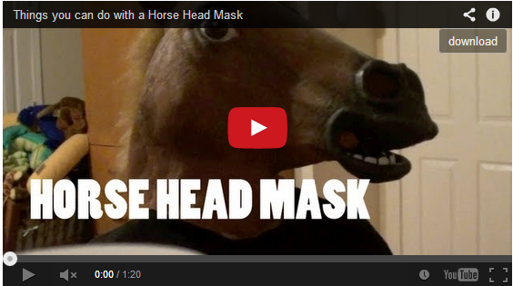 Things you can do with a Horse Head Mask