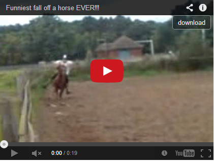 Funniest fall off a horse EVER!!!